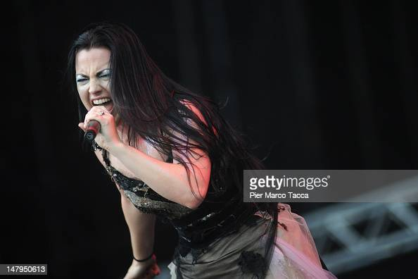 Amy Lee of Evanescence performs at the 2012 Heineken Jammin Festival of on July 6 2012 in Milan Italy