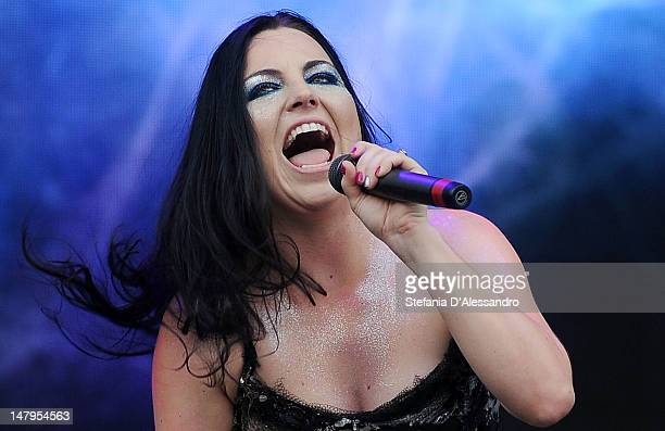Amy Lee of Evanescence performs at the 2012 Heineken Jammin Festival on July 6 2012 in Milan Italy