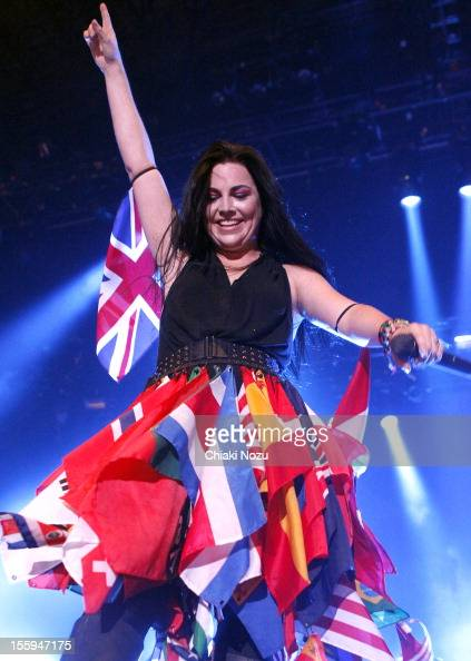 Amy Lee of Evanescence performs at Wembley Arena on November 9 2012 in London England