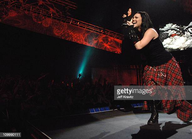 Amy Lee of Evanescence performs Bring Me to Life