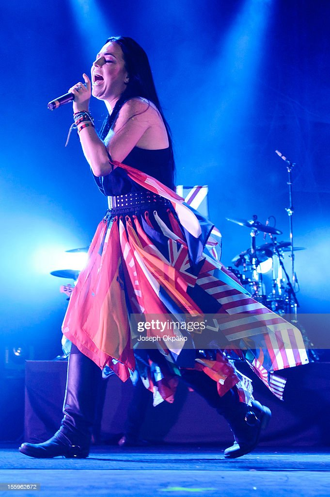 Amy Lee of Evanescence performs on stage at Wembley Arena on November 9, 2012 in London, United Kingdom.