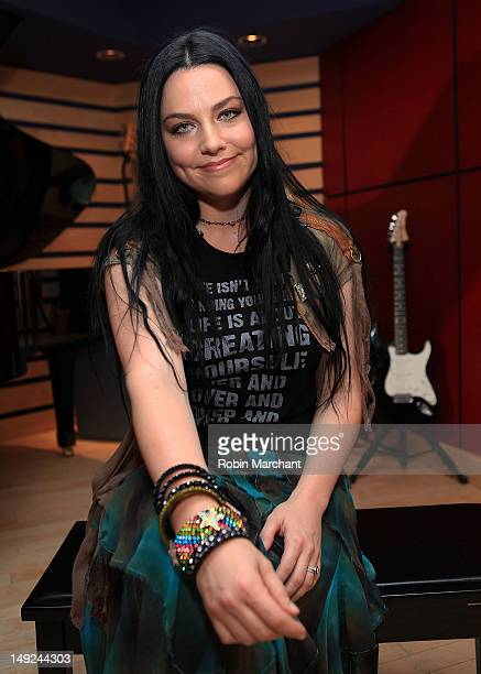 Amy Lee of Evanescence visits fuse's 'Top 20 Countdown' at KMA Studios on July 25 2012 in New York City