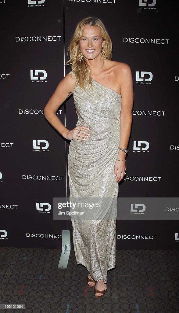Amy Lemons attends 'Disconnect' New York Special Screening at SVA Theater on April 8 2013 in New York City