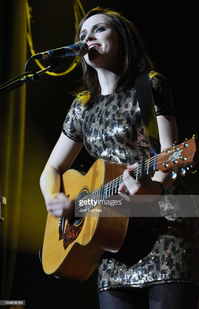 Amy MacDonald attends/ performs at Hard Rock's Pinktober at Indigo at O2 Arena on October 5 2010 in London England
