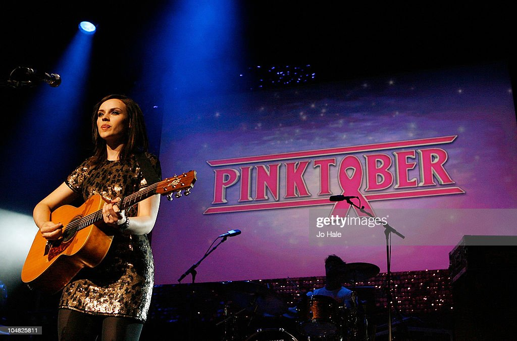 Amy MacDonald performs on stage at Pinktober on October 5 2010 in London England
