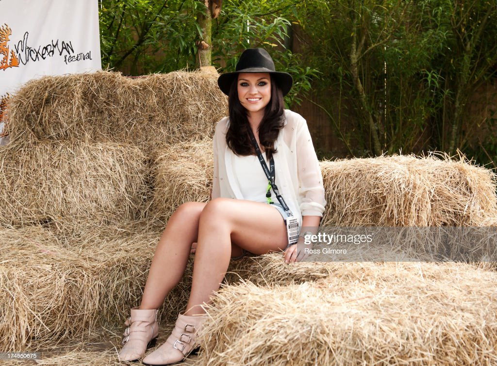 Amy Macdonald poses backstage on Day 2 of Wickerman Festival on July 27, 2013 in Dundrennan, Scotland.