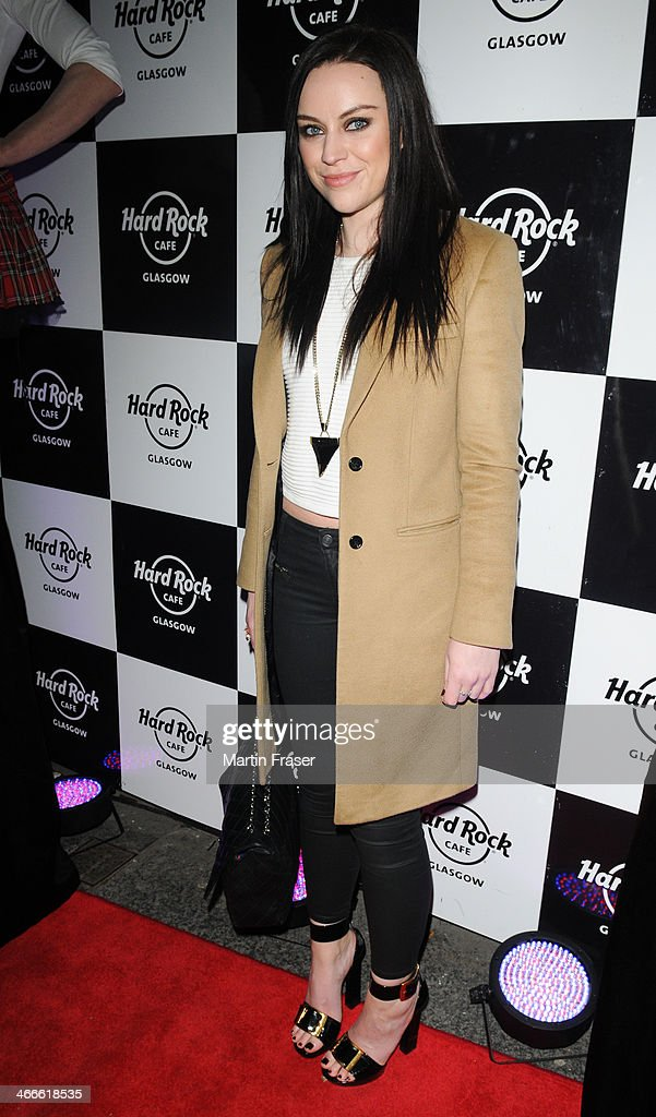 Amy McDonald is a guest of the Hard Rock Cafe's 'The Scottish Music Weekend' event at Hard Rock Cafe on February 2, 2014 in Glasgow, Scotland.