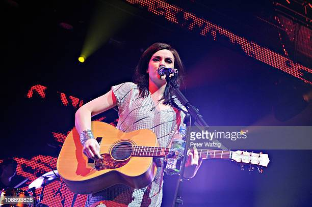 Amy McDonald performs on stage at the Philipshalle on November 15 2010 in Dusseldorf Germany