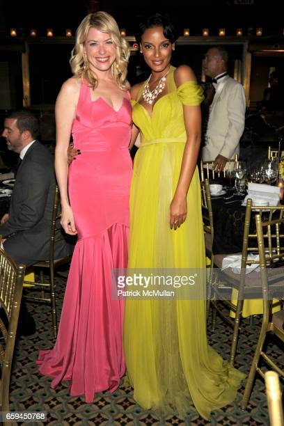 Amy McFarland and Selita Ebanks attend NEW YORKERS FOR CHILDREN 10th Annual Fall Gala at Cipriani 42nd on September 22 2009 in New York City