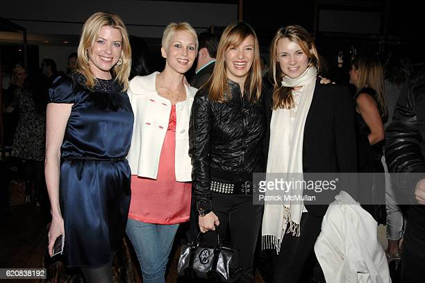 Amy McFarland Carrie Cloud Coralie Charriol Paul and Allison Aston attend BALLY Cocktail Party Honoring BRIAN ATWOOD New Yorkers For Children at...