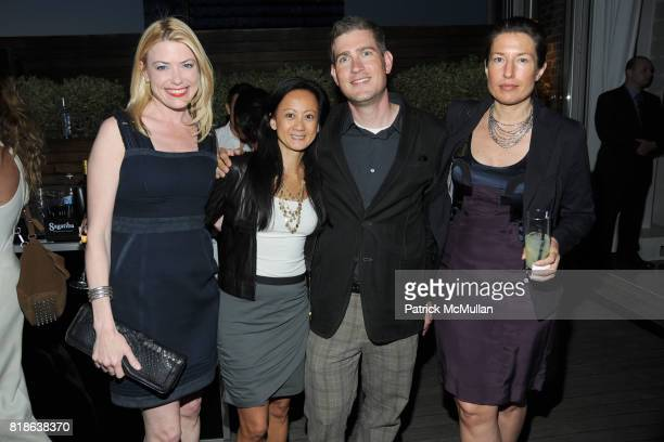 Amy McFarland Julie Leong Matthew Evans and Barbara Drake attend MELISSA Plastic Dreams Rooftop Party at MILK Penthouse on June 8 2010 in New York...