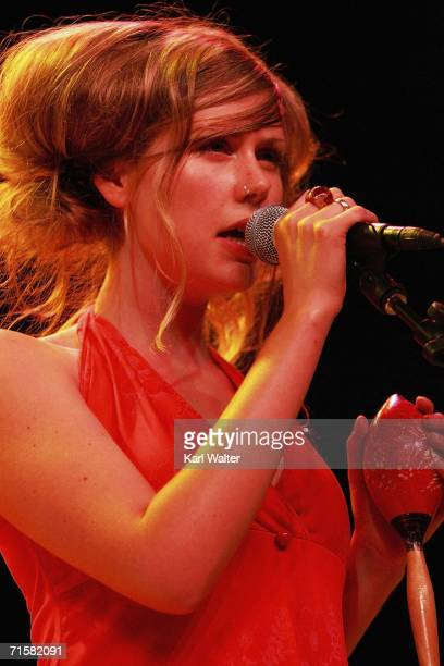 Amy Millan of Broken Social Scene performs in concert at the Greek Theater on August 3 2006 in Los Angeles California