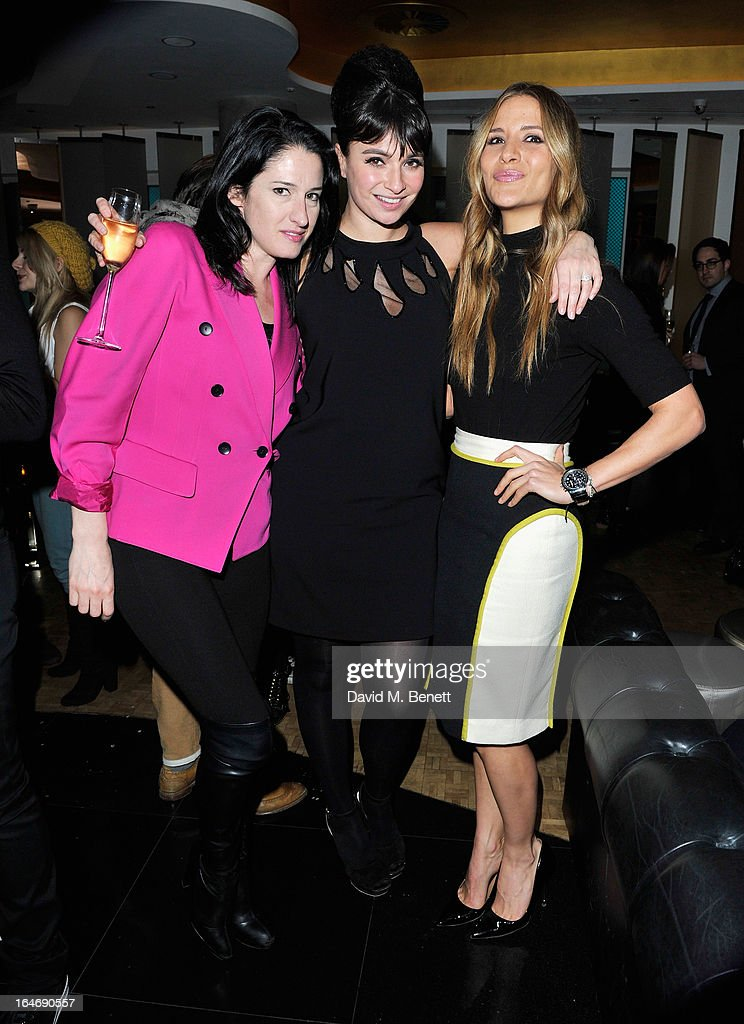 Amy Molineaux, Gizzi Erskine and Amanda Byram at W London - Leicester Square for the launch of Gizzi Erskine's remix of the W Rock Tea and her book 'Skinny Weeks and Weekend Feasts' on March 26, 2013 in London, England.
