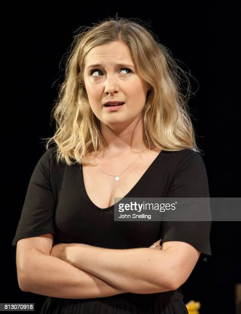 Amy Morgan as Dee performs on stage during performance of the 'Touch' a new play written and directed by Vicky Jones at Soho Theatre on July 11 2017...