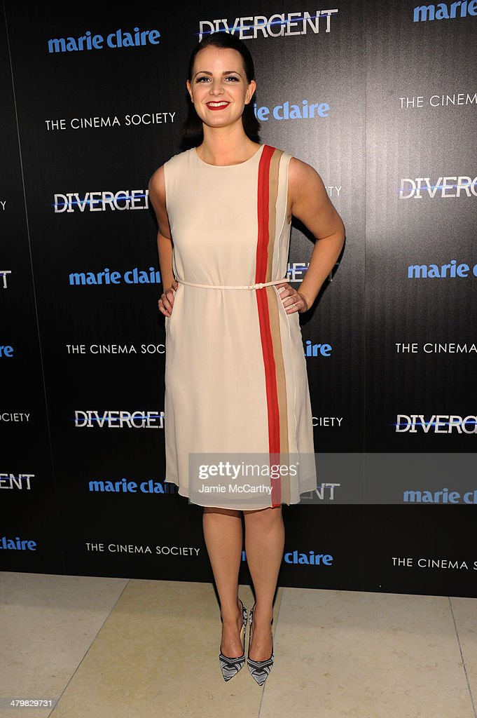<a gi-track='captionPersonalityLinkClicked' href=/galleries/search?phrase=Amy+Newbold&family=editorial&specificpeople=2244891 ng-click='$event.stopPropagation()'>Amy Newbold</a> attends the Marie Claire & The Cinema Society screening of Summit Entertainment's 'Divergent' at Hearst Tower on March 20, 2014 in New York City.