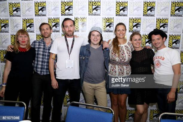 Amy Nicholson Aaron Moorhead Justin Benson Mickey Keating Marianna Palka Mette Marie Kongsved and Elijah Wood attend the Bold Voice of Contemporary...