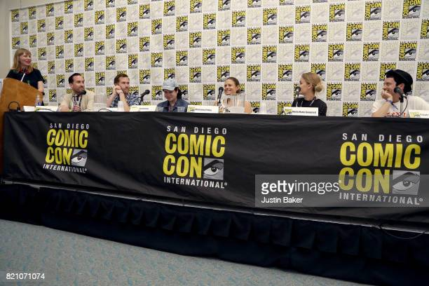 Amy Nicholson Justin Benson Aaron Moorhead Mickey Keating Marianna Palka Mette Marie Kongsved and Elijah Wood attend the Bold Voice of Contemporary...