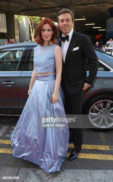 Amy Nuttal and Andrew Buchan arrive in an Audi at the BAFTA TV on Sunday 14 May 2017 on May 14 2017 in London United Kingdom