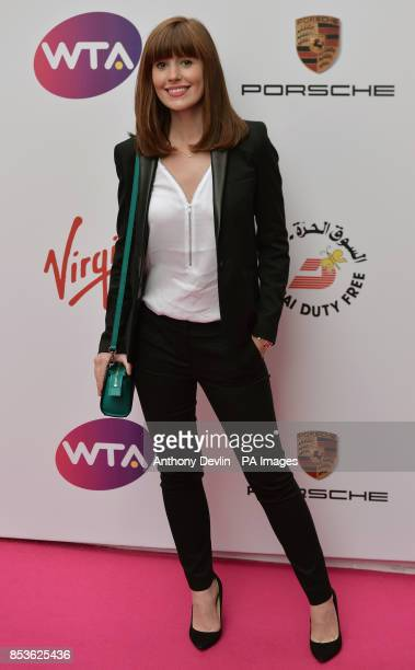 Amy Nuttall attending the WTA PreWimbledon Party at The Roof Gardens Kensington London