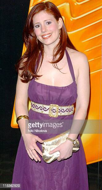 Amy Nuttall during RTS Programme Awards 2004 at Grosvenor House Hotel in London Great Britain