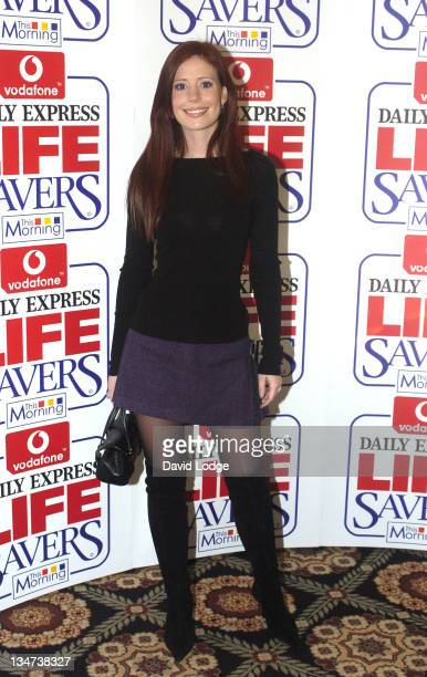 Amy Nuttall during Vodafone Life Savers Awards 2004 at Savoy Hotel in London Great Britain