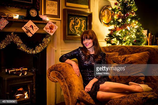 Amy Nuttall star of Downton Abbey launches the British Airways Christmas Holiday Campaign on December 17 2013 in London England The airline's new...