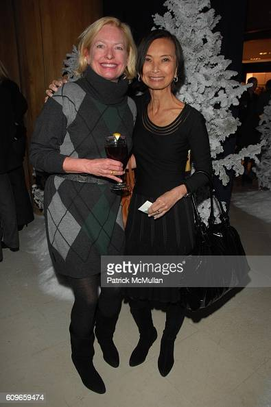 Amy O'Connor and Josie Natori attend STEVE SADOVE hosts SAKS FIFTH AVENUE Annual Holiday Luncheon at SAKs Fifth Avenue NYC on December 11 2007 in New...