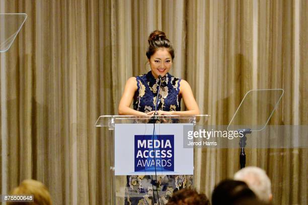 Amy Okuda attends the Media Access Awards 2017 at The Four Seasons on November 17 2017 in Beverly Hills California