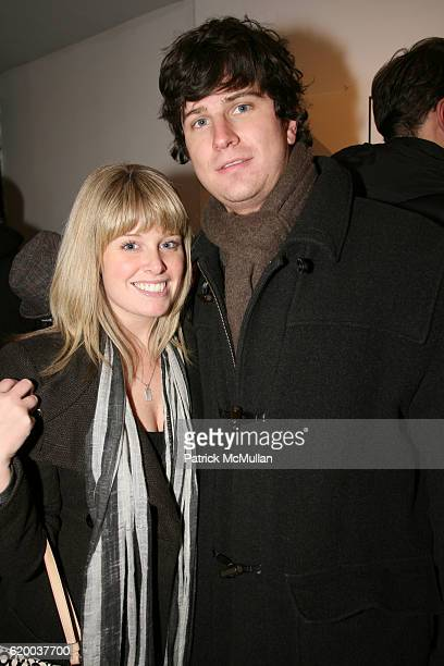 Amy Olsen and Matt Tackett attend PAPERCUT Inaugural Exhibition to Celebrate the Print Making Process at Heist Gallery on December 13 2008 in New...