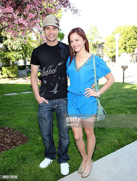 Amy Paffrath and Andrew Seeley attend 'Child Hunger Ends Here' neighborhood celebrity rally on Wisteria Lane at NBC Universal lot on April 7 2010 in...