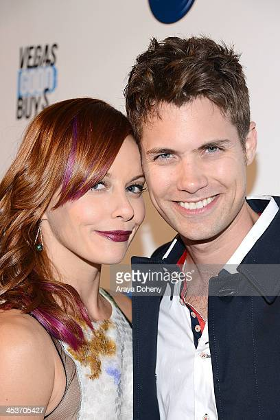 Amy Paffrath and Drew Seeley attend The Junior Hollywood Radio Television Society's 11th Annual Snow Ball Holiday Party at Lure on December 4 2013 in...