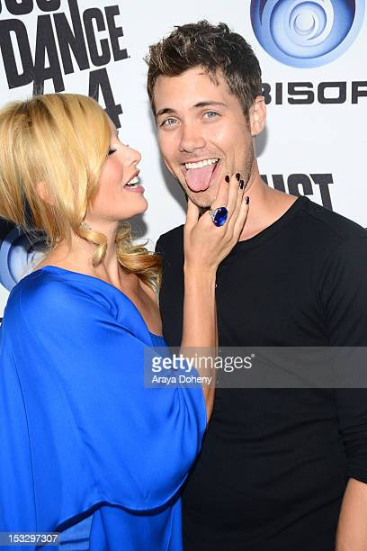 Amy Paffrath and Drew Seeley attend The Launch Of Just Dance 4 presented by Ubisoft at Lexington Social House on October 2 2012 in Hollywood...
