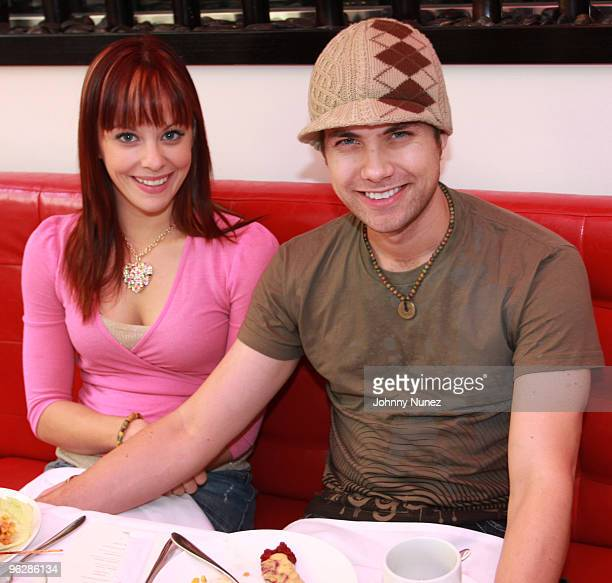 Amy Paffrath and Drew Seeley celebrate Estelle's upcoming album at Philippe Chow's on January 30 2010 in Los Angeles California