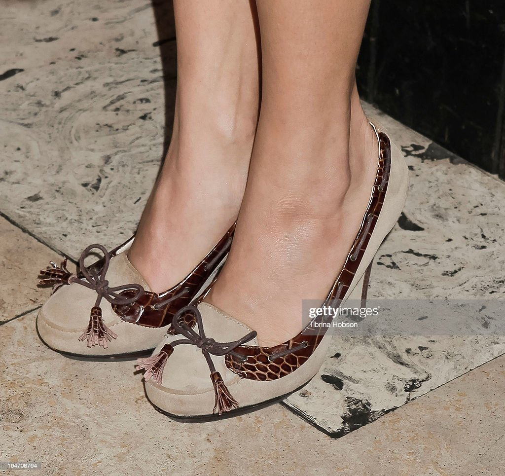 Amy Paffrath (shoe detail) attends Boohoo's Summer 2013 press day at SUR Lounge on March 26, 2013 in Los Angeles, California.