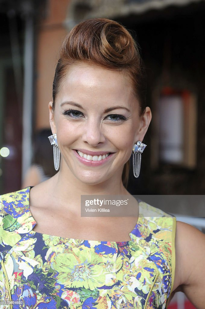 Amy Paffrath attends 'CATberet' - A Musical Review For Local Cat And Kitten Rescue Center Kitty Bungalow Charm School For WaywardCats at Belasco Theatre on August 4, 2013 in Los Angeles, California.