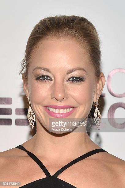 Amy Paffrath attends the Chaz Dean holiday party 2015 benefiting Love Is Louder on December 12 2015 in Los Angeles California