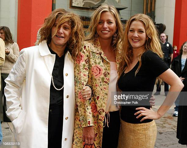 Amy Pascal Chairman of Sony Pictures Motion Picture Group Nancy Juvonen and Drew Barrymore