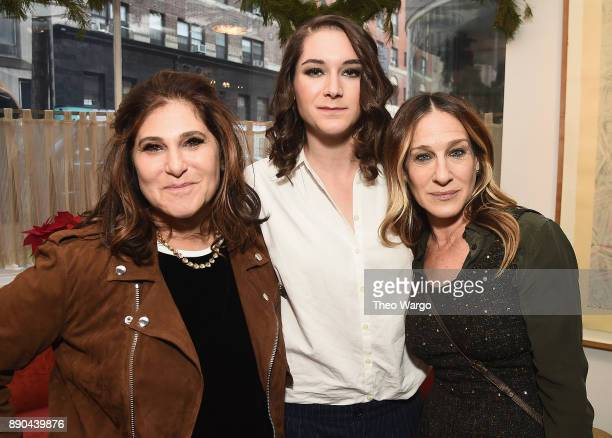 Amy Pascal Liz Hannah and Sarah Jessica Parker attends the Hearst 100 at Michael's Restaurant on December 11 2017 in New York City