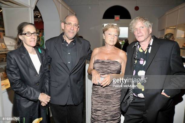 Amy Plumm Fred Snitzer Alice Aycock and Dennis Oppenheim attend PARRISH ART MUSEUM Midsummer Party Honoring BETH RUDIN DEWOODY and ROSS BLECKNER at...