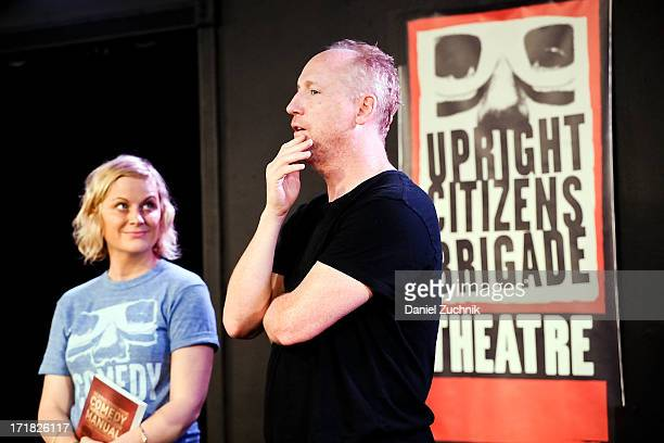 Amy Poehler and Matt Walsh attend The Upright Citizens Brigade Theatre Presents The 15th Anniversary Del Close Improv at Upright Citizens Brigade...