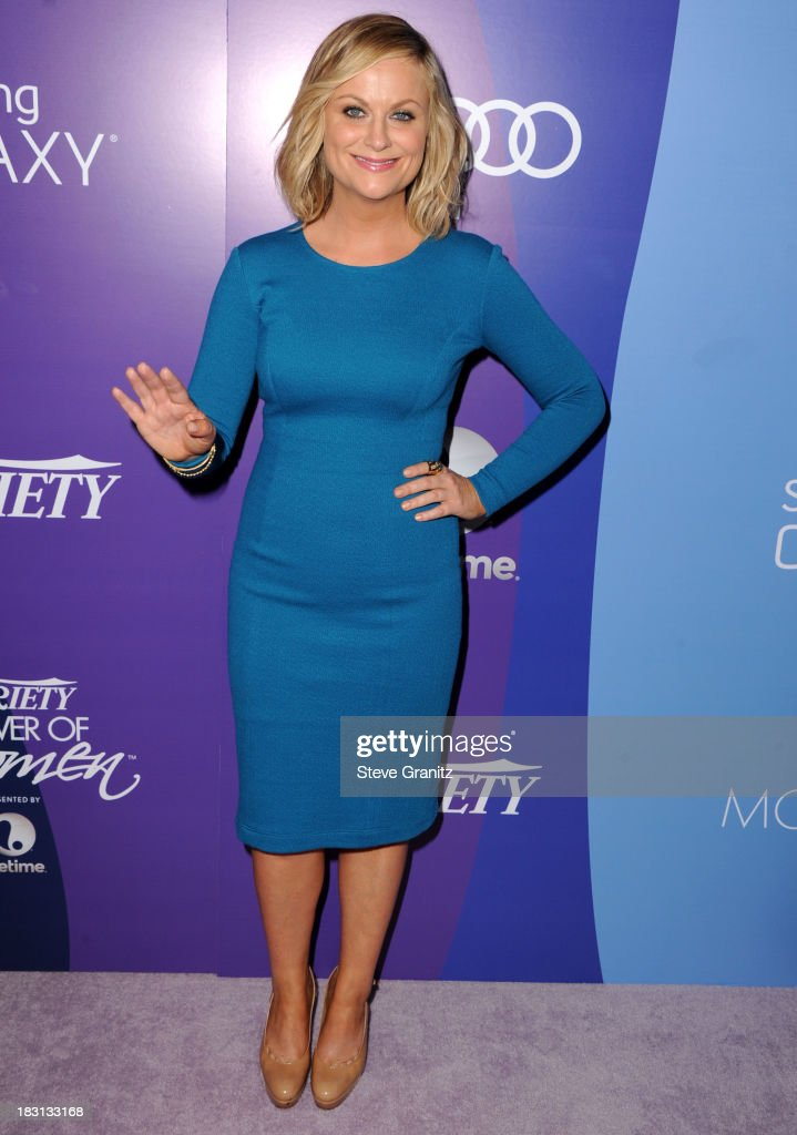 <a gi-track='captionPersonalityLinkClicked' href=/galleries/search?phrase=Amy+Poehler&family=editorial&specificpeople=228430 ng-click='$event.stopPropagation()'>Amy Poehler</a> arrives at the Variety's 5th Annual Power Of Women Event at the Beverly Wilshire Four Seasons Hotel on October 4, 2013 in Beverly Hills, California.