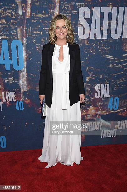 Amy Poehler attends the SNL 40th Anniversary Celebration at Rockefeller Plaza on February 15 2015 in New York City