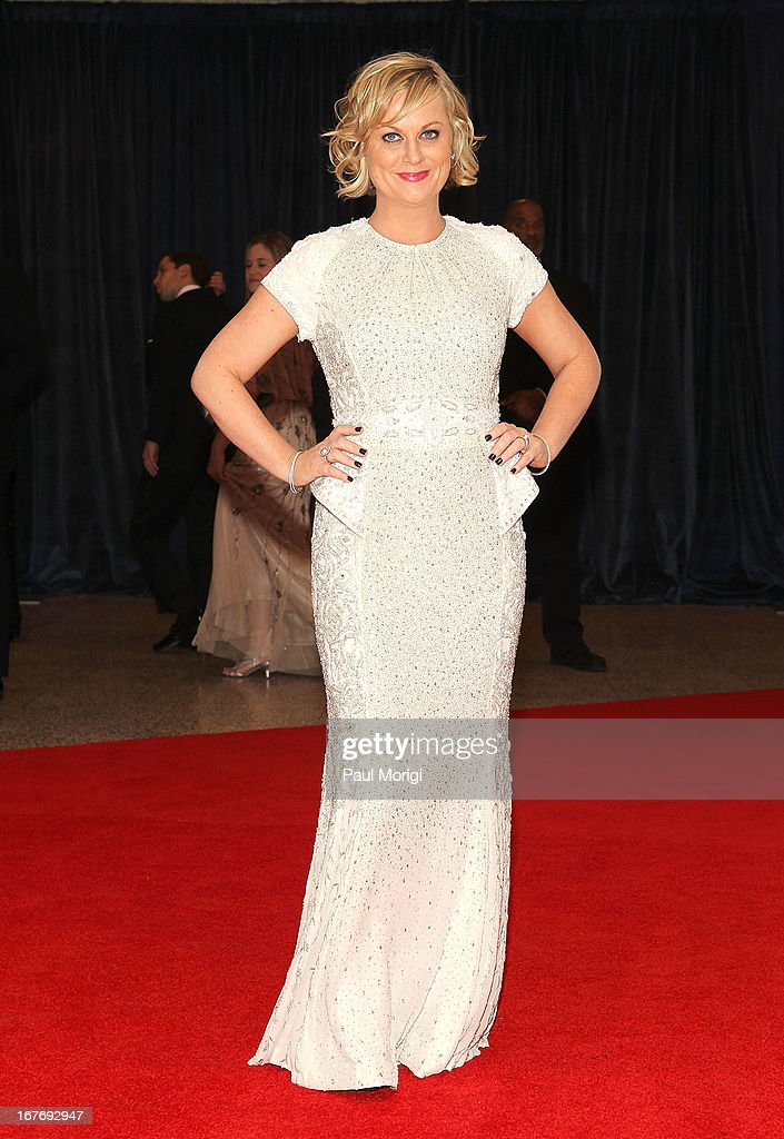 <a gi-track='captionPersonalityLinkClicked' href=/galleries/search?phrase=Amy+Poehler&family=editorial&specificpeople=228430 ng-click='$event.stopPropagation()'>Amy Poehler</a> attends the White House Correspondents' Association Dinner at the Washington Hilton on April 27, 2013 in Washington, DC.