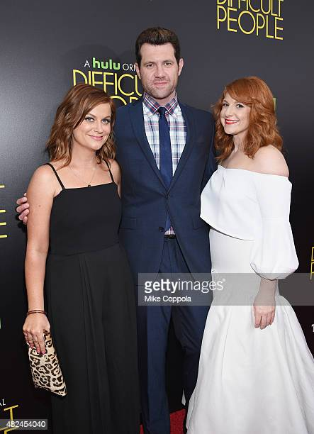 Amy Poehler Billy Eichner and Julie Klausner attend Hulu Original 'Difficult People' Premiere on July 30 2015 in New York City