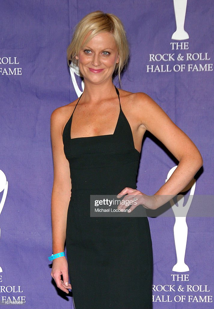Amy Poehler during 22nd Annual Rock and Roll Hall of Fame Induction Ceremony - Press Room at Waldorf Astoria in New York City, New York, United States.
