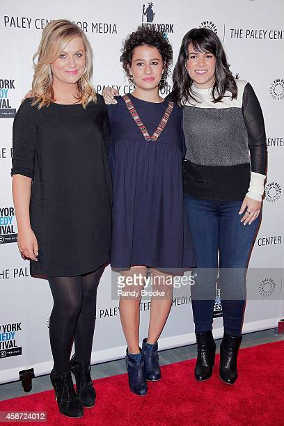 Amy Poehler Ilana Glazer and Abbi Jacobson attend 'Id Isn't Always Pretty An Evening with Broad City' Panel Discussion at The Paley Center for Media...