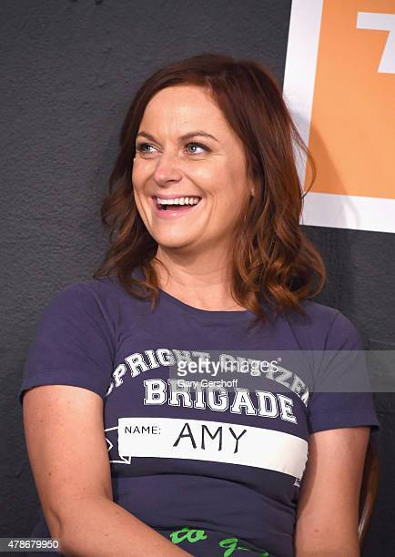 Amy Poehler performs on stage at UCB Theater Presents The 17th Annual Del Close Improv Comedy Marathon Press Conference at the Upright Citizens...