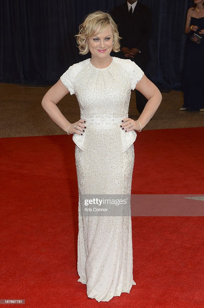 Amy Poehler poses for a photo on the red carpet during the White House Correspondents' Association Dinner at the Washington Hilton on April 27, 2013 in Washington, DC.