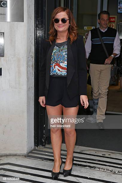 Amy Poehler seen at BBC Radio Studios on July 17 2015 in London England