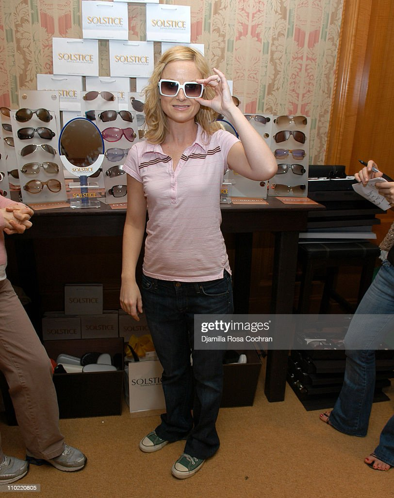 <a gi-track='captionPersonalityLinkClicked' href=/galleries/search?phrase=Amy+Poehler&family=editorial&specificpeople=228430 ng-click='$event.stopPropagation()'>Amy Poehler</a> wearing Burberry 8452S Sunglasses during Solstice Sunglass Boutique at the Lucky/Cargo Club - Day 2 at Ritz Carlton in New York City, New York, United States.